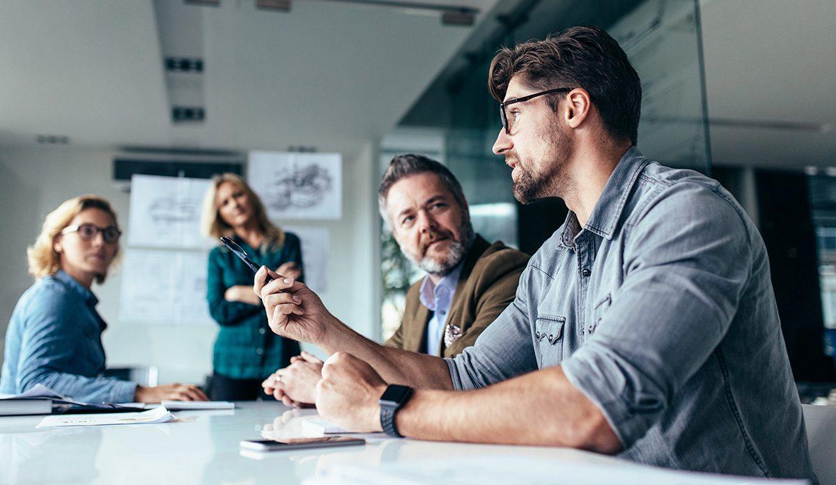 Dyskusja przedsiębiorcy